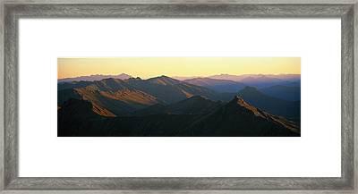 Harris Mountains New Zealand Framed Print
