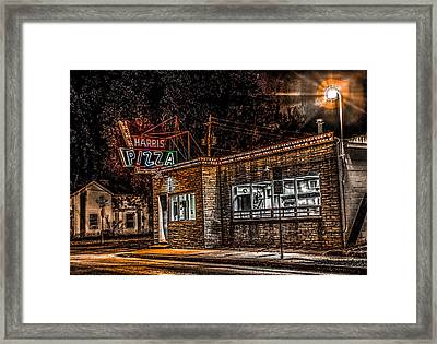 Framed Print featuring the photograph Harris Pizza #3 by Ray Congrove