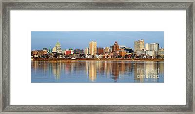 Harrisburg Reflections Framed Print