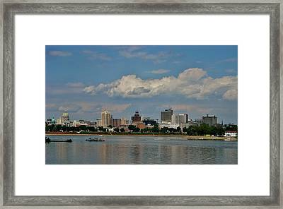 Harrisburg Skyline Framed Print by Ed Sweeney