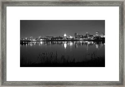 Harrisburg Skyline   # Framed Print