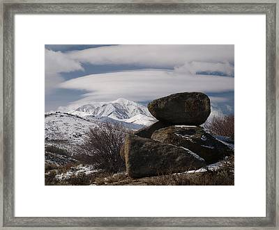 Framed Print featuring the photograph Harrison Pass by Jenessa Rahn