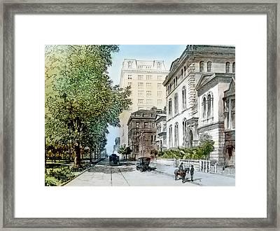 Harrison Residence East Rittenhouse Square Philadelphia C 1890 Framed Print