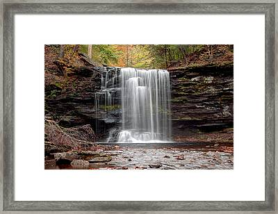 Harrison Wright Falls As Autumn Arrives Framed Print by Gene Walls