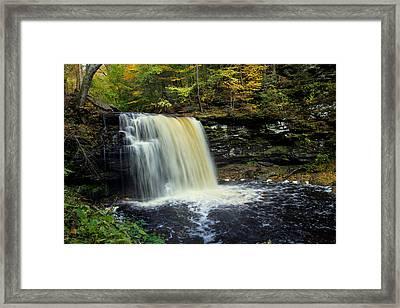 Harrison Wright Falls Framed Print by J Allen