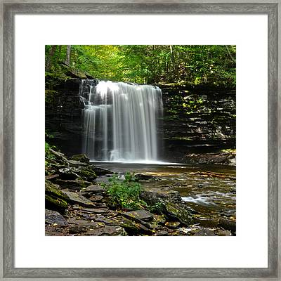 Harrison Wright Falls Framed Print by Frozen in Time Fine Art Photography