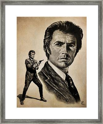 Harry Callahan  Tan Version Framed Print by Andrew Read