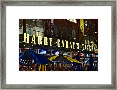 Harry Caray Tavern Framed Print by Frozen in Time Fine Art Photography