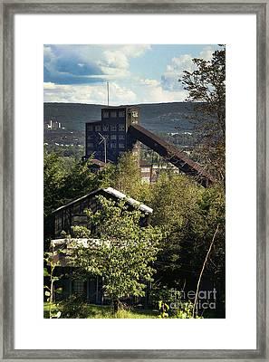 Harry E Colliery Swoyersville Pa Summer 1994 Framed Print