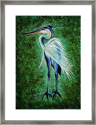 Harry Heron Framed Print by Adele Moscaritolo