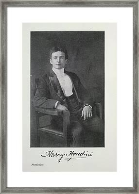 Harry Houdini Framed Print
