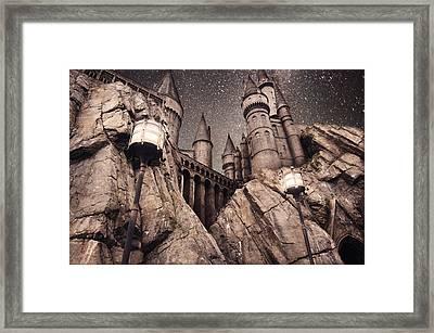 Hogwarts Castle Harry Potter Framed Print by Robert Jones
