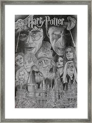 Harry Potter Montage Framed Print by Mark Harris