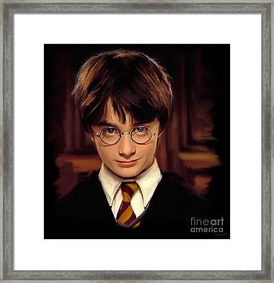 Harry Potter Framed Print by Paul Tagliamonte