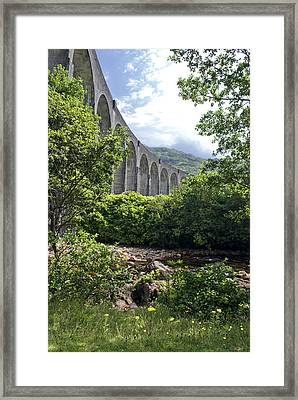 Framed Print featuring the photograph Harry Potters Glenfinnan Viaduct Scotland by Sally Ross
