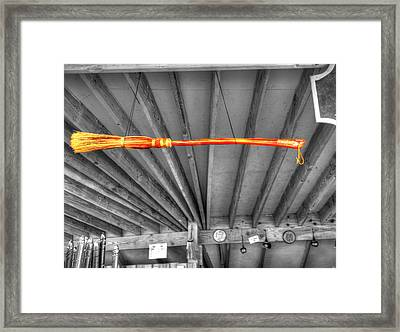 Harry Potter's Nimbus 2000 Broomstick Framed Print