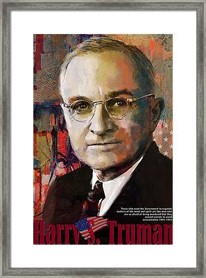 Harry S. Truman Framed Print