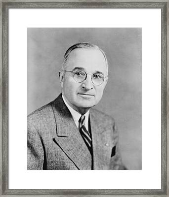 Harry S Truman Framed Print