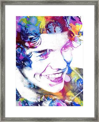 Harry Styles - One Direction Framed Print