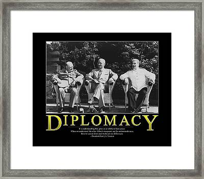 Harry Truman Diplomacy Framed Print by Retro Images Archive