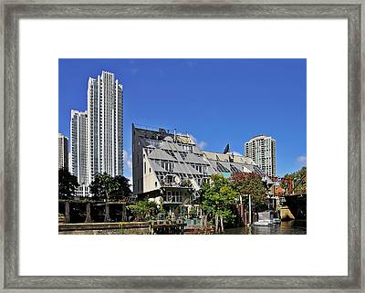 Harry Weese's Chicago River Cottages Framed Print by Christine Till
