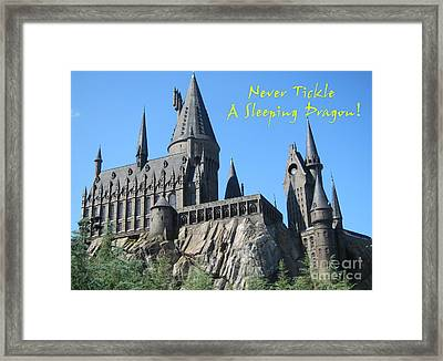 Harry's Hogwarts Framed Print