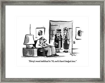 Harry's Mood Stabilized In '78 Framed Print by Lee Lorenz