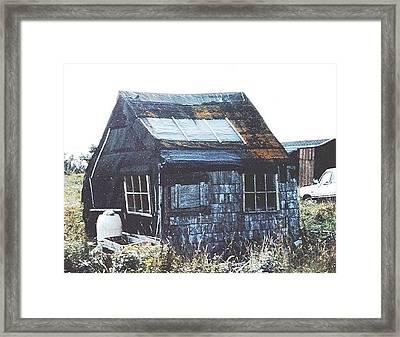 Harry's Shed Framed Print