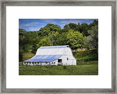 Hart Creek Barn Framed Print by Cricket Hackmann