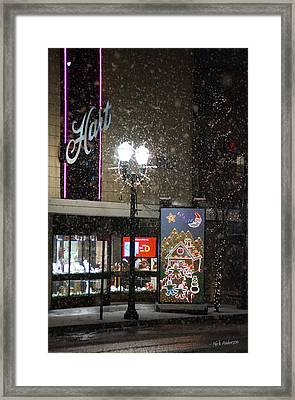 Hart In The Snow - Grants Pass Framed Print by Mick Anderson
