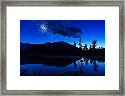 Hart Lake In Wyomings Greater Framed Print