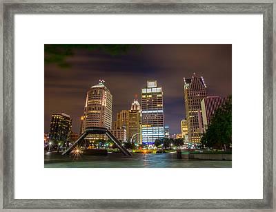 Hart Plaza Framed Print