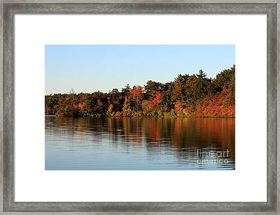 Hart Pond Golden Hour Framed Print by Kenny Glotfelty