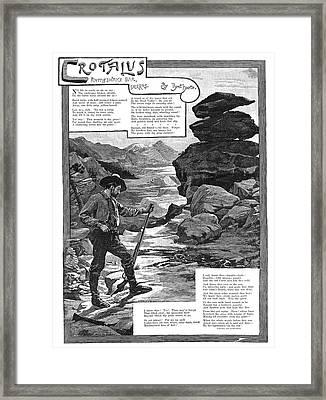 Harte Crotalus, 1887 Framed Print