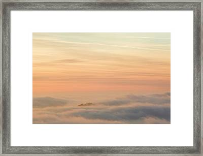 Harter Fell Above The Clouds Framed Print by Ashley Cooper