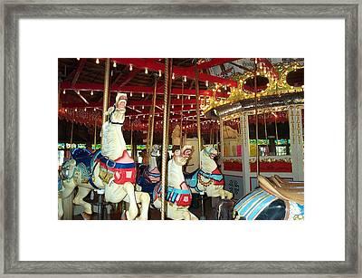 Framed Print featuring the photograph Hartford Carousel by Barbara McDevitt