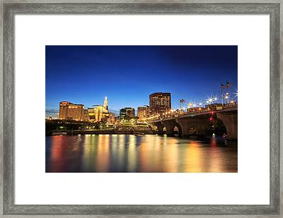 Hartford Skyline Framed Print by Roxanne Gura