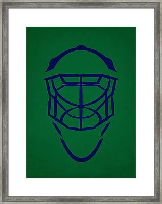 Hartford Whalers Goalie Mask Framed Print