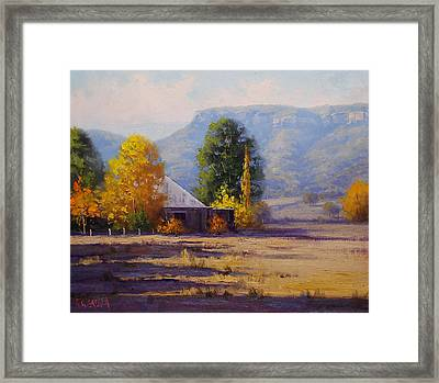 Hartley Autumn Framed Print by Graham Gercken