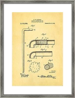 Hartman Confetti Gun Patent Art 1914 Framed Print