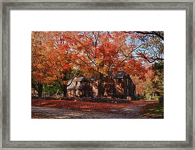 Framed Print featuring the photograph Hartwell Tavern Under Canopy Of Fall Foliage by Jeff Folger