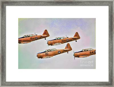 Framed Print featuring the photograph Harvard Aircraft  by Cathy  Beharriell