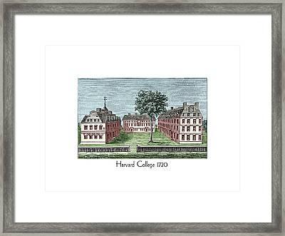 Harvard College - 1720 Framed Print