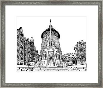 Harvard Lampoon Building Framed Print by Conor Plunkett