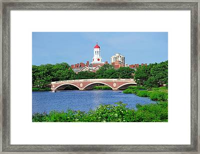 Harvard University Campus In Boston Framed Print