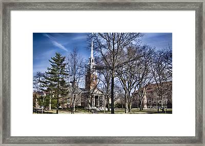 Harvard University Old Yard Church Framed Print