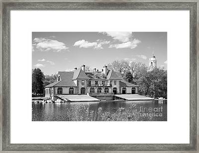 Weld Boat House At Harvard University Framed Print by University Icons