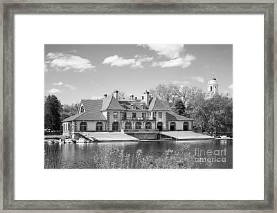Weld Boat House At Harvard University Framed Print