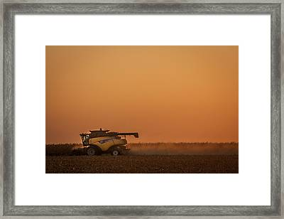 Harvest At Sunset Framed Print by Dawn Romine