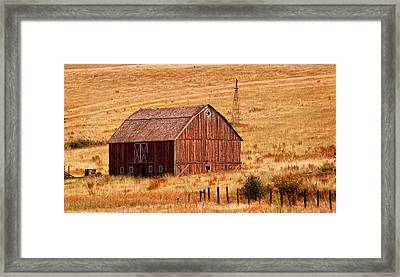 Harvest Barn Framed Print by Mary Jo Allen